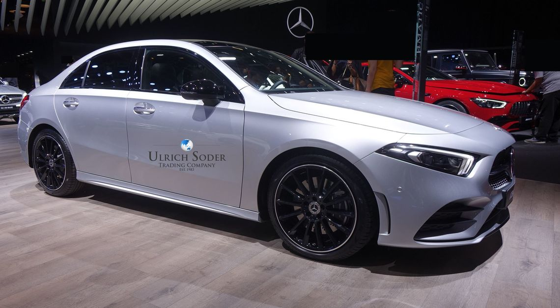 Mercedes A-Class sedan with AMG line