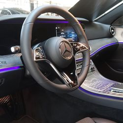 Mercedes-Benz E-Class interior with MBUX