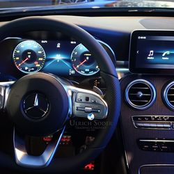 Mercedes C-Class sedan with AMG Line digital cockpit
